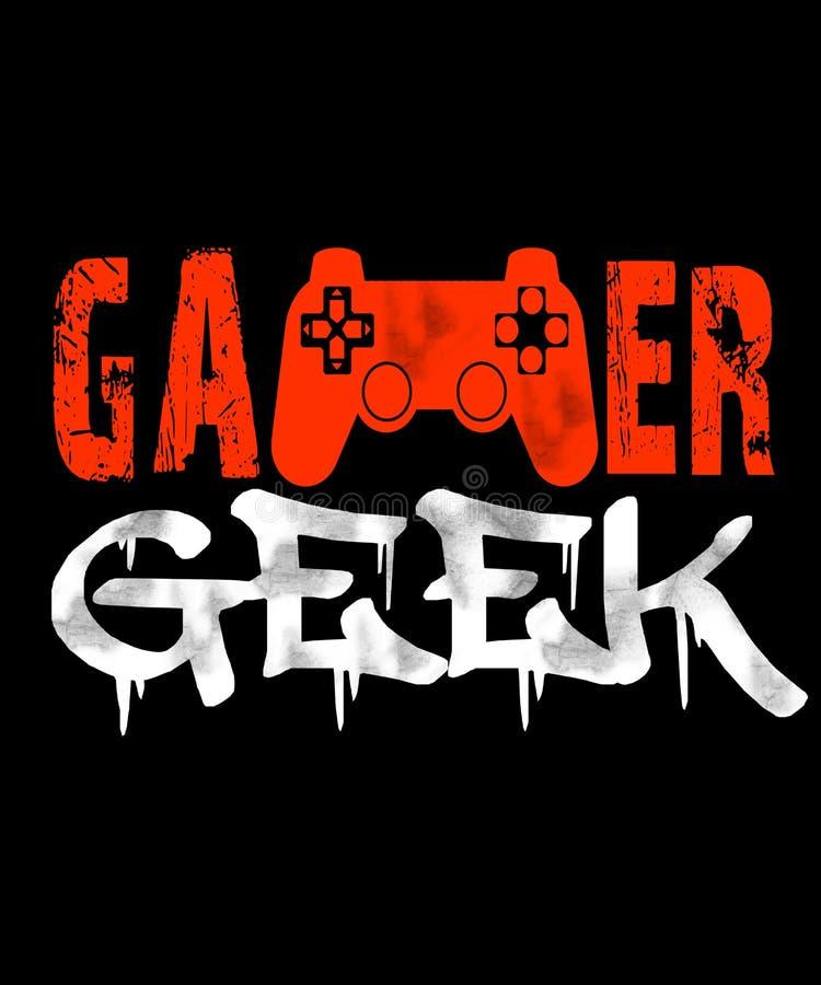Ilustração do grunge do totó do Gamer no preto ilustração do vetor