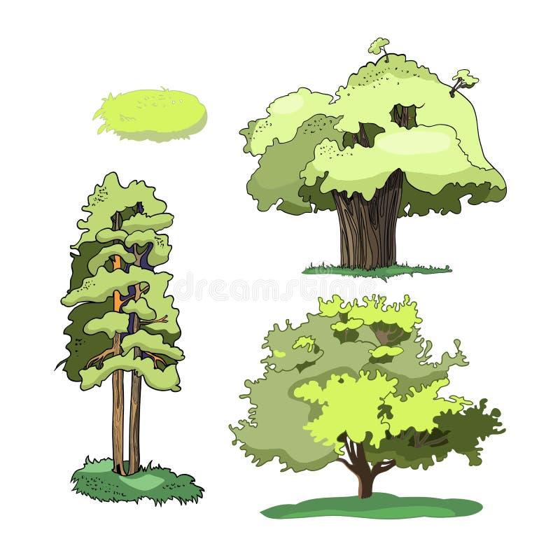 Ilustração do grupo das árvores ilustração stock