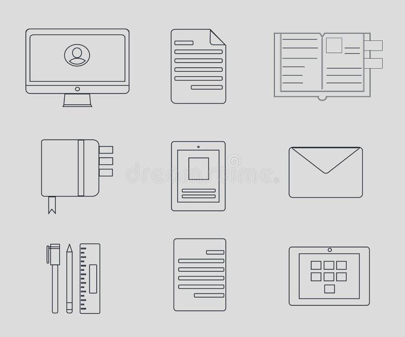 Ilustração do grupo do negócio ilustração stock