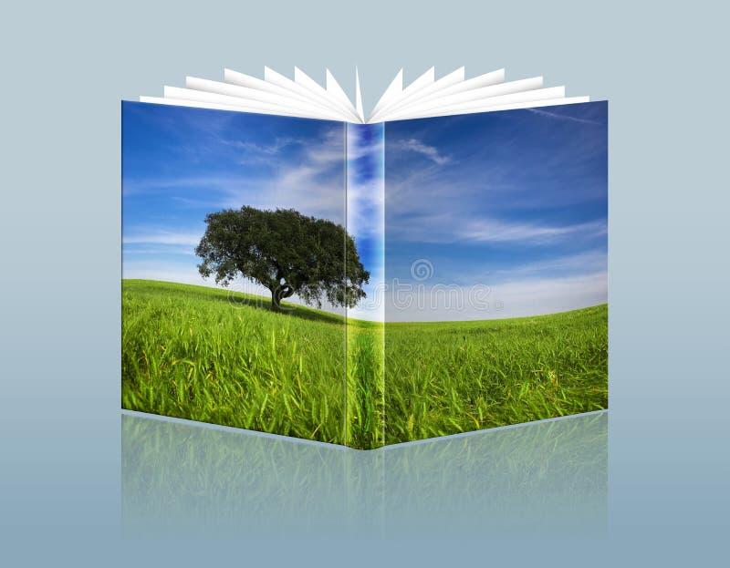 Ilustração do guia do curso com paisagem no ilustração stock
