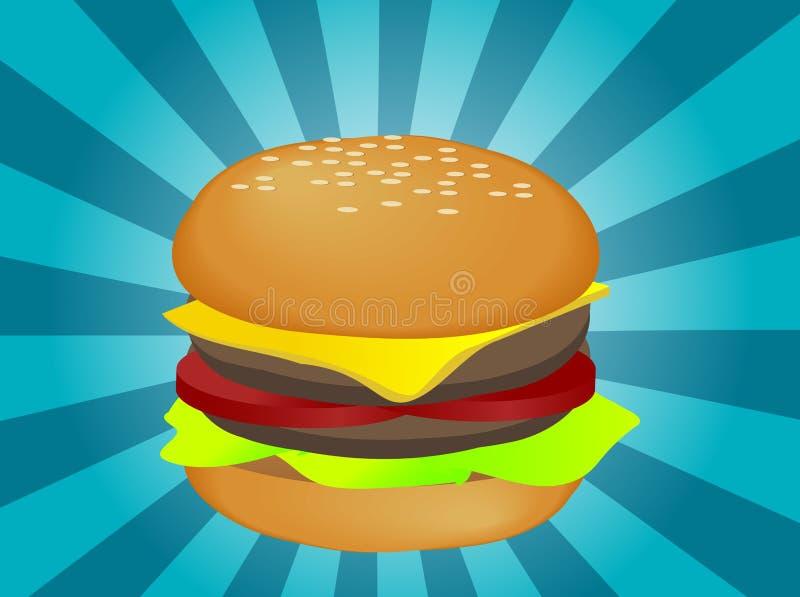Ilustração do Hamburger ilustração do vetor