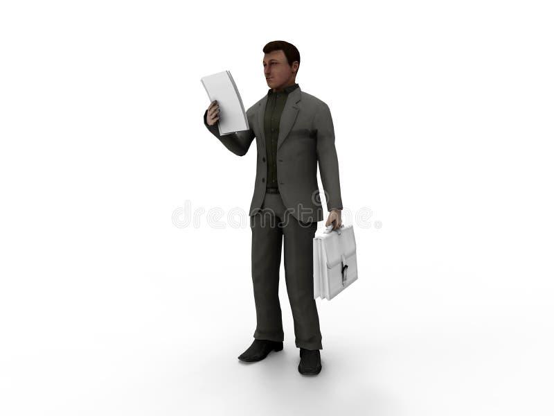 Ilustração do homem de negócios ilustração stock