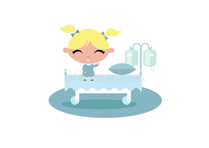 Ilustração do hospital da criança da criança ilustração stock