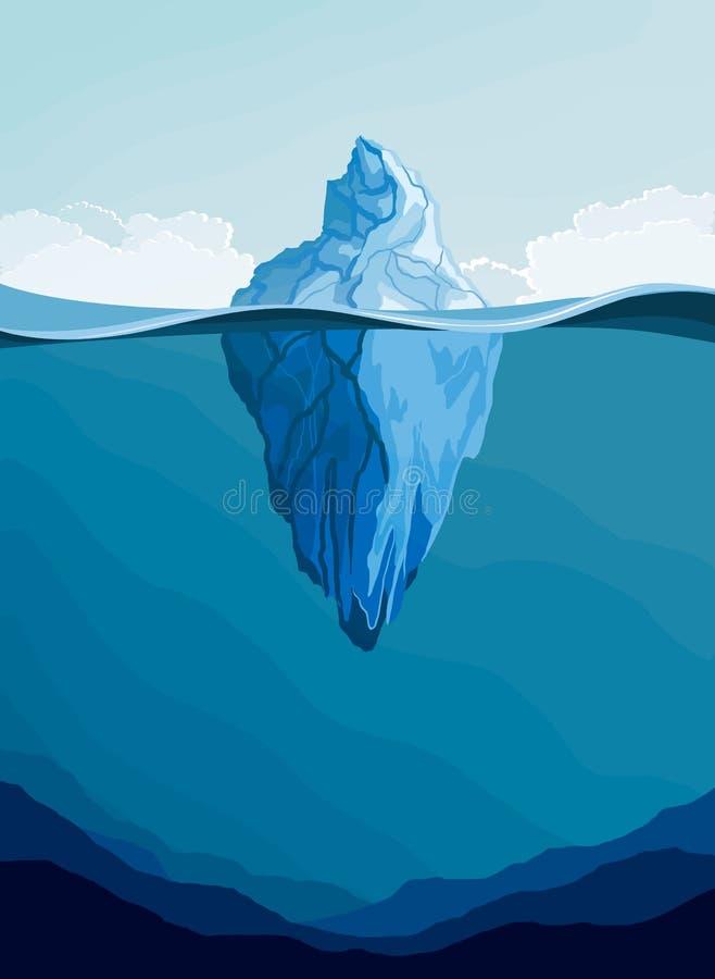 Ilustração do iceberg, paisagem ártica do vetor ilustração royalty free