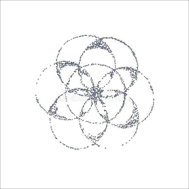 Ilustração do inclinação da flor da vida ao estilo do dotwork ideia da tatuagem fotos de stock royalty free