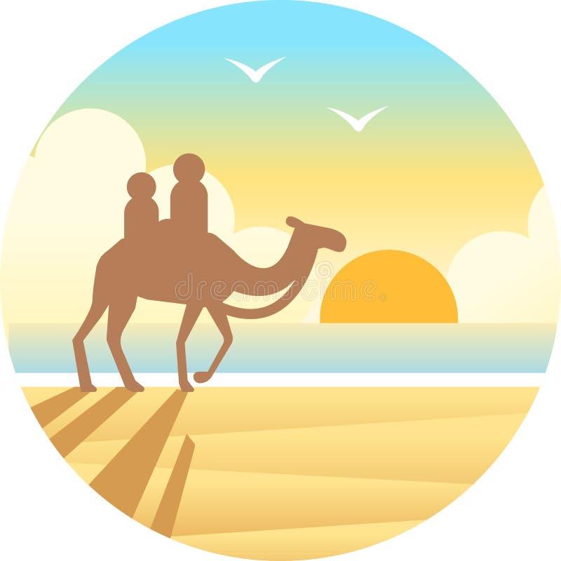 Ilustração do inclinação da praia do cabo ilustração stock
