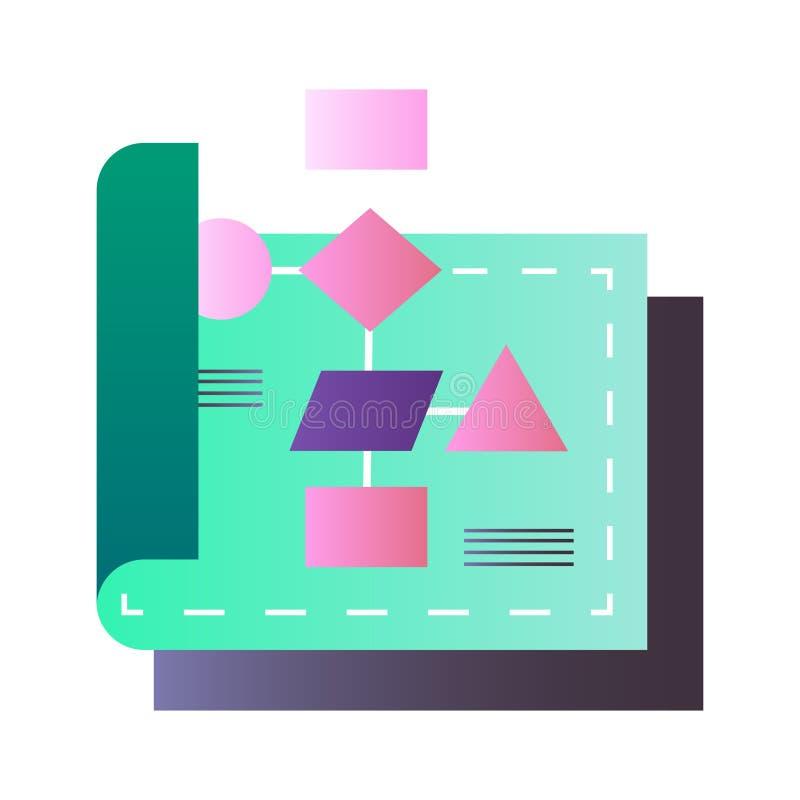 Ilustração do inclinação do fluxograma ilustração royalty free