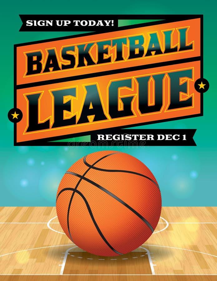 Ilustração do inseto da liga de basquetebol ilustração royalty free