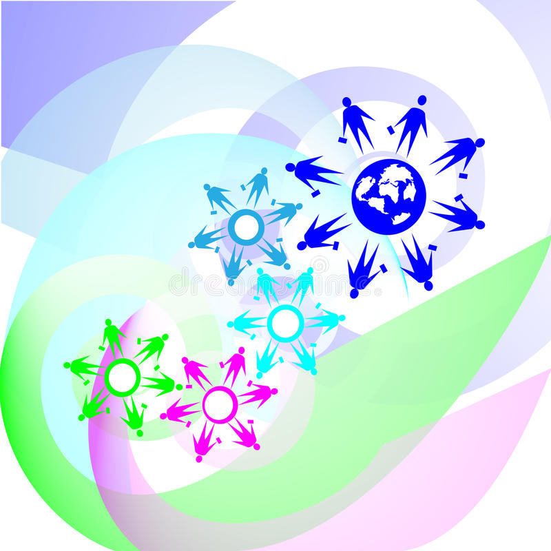 ilustração do Integração-símbolo imagens de stock royalty free