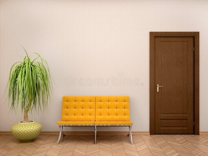 Ilustração do interior do banheiro em tons mornos ilustração stock