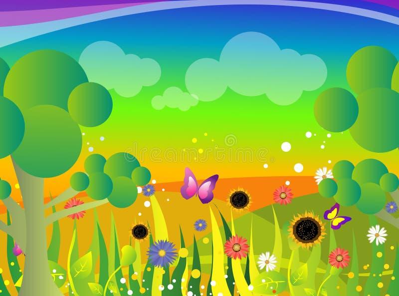Ilustração do jardim ilustração stock
