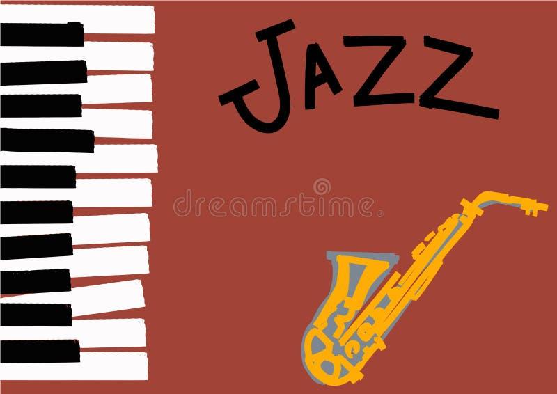 Ilustração do jazz com espaço para o texto ilustração stock