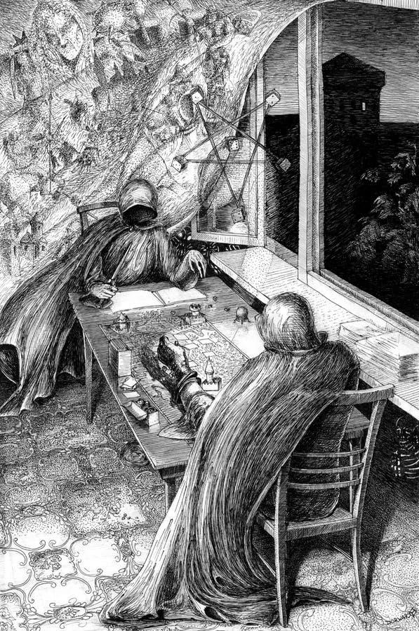Ilustração do jogo de mesa ilustração royalty free