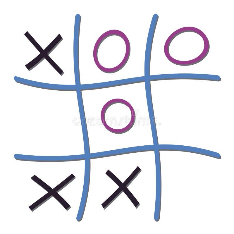 Ilustração do jogo de nada e das cruzes ilustração do vetor