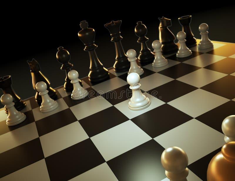 Ilustração do jogo de xadrez ilustração royalty free