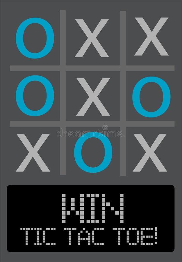 Ilustração do jogo do dedo do pé de Tic Tac ilustração stock