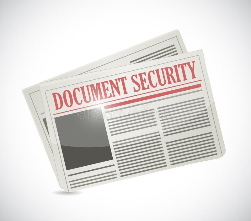 Ilustração do jornal da segurança do original ilustração do vetor