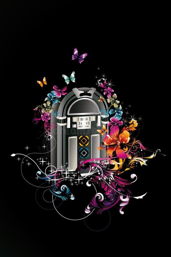 Ilustração do jukebox ilustração do vetor