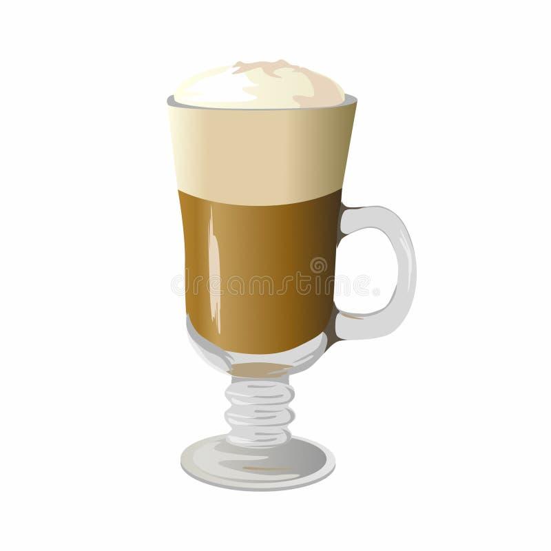 Ilustração do Latte do café ilustração royalty free