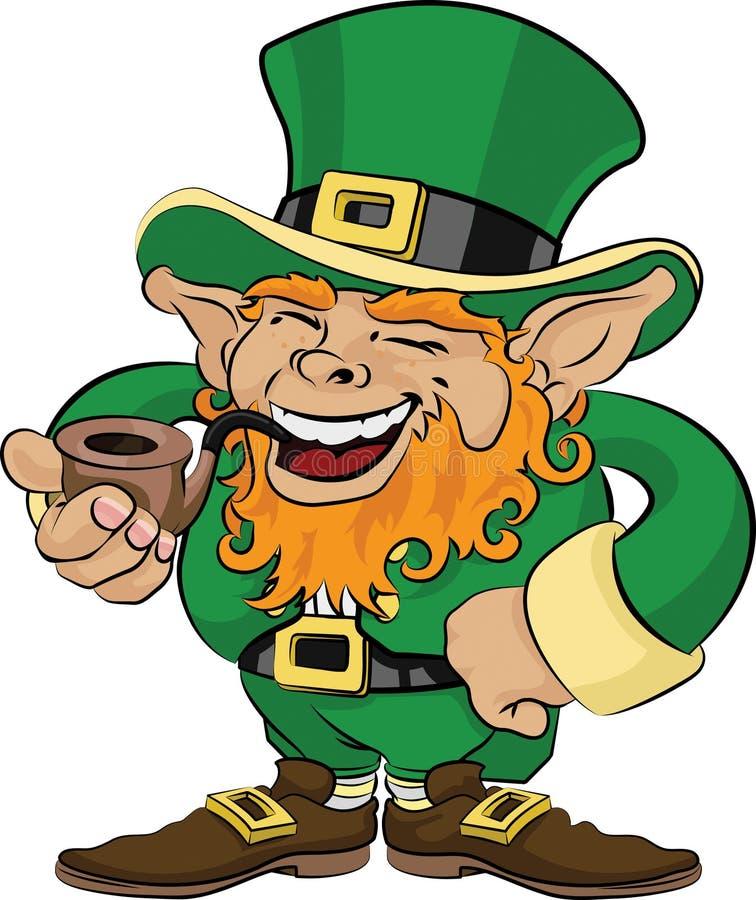 Ilustração do leprechaun do dia do St. Patrick ilustração royalty free