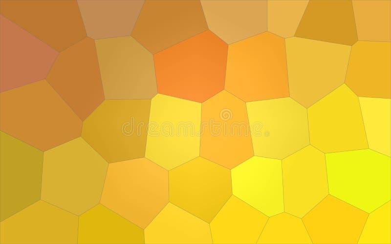 Ilustração do limão - amarelo e escuro - fundo gigante colorido vermelho do hexágono ilustração stock