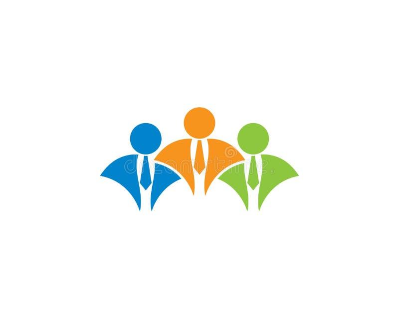 Ilustração do logotipo do homem de negócios ilustração royalty free