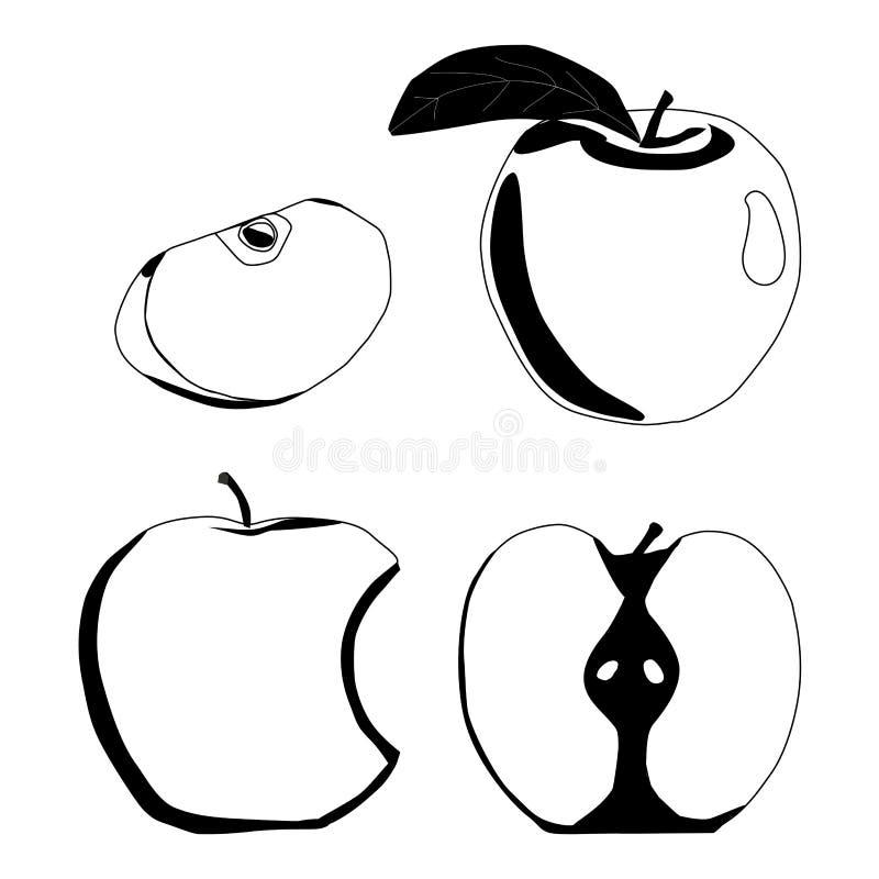 Ilustração do logotipo para Apple ilustração royalty free