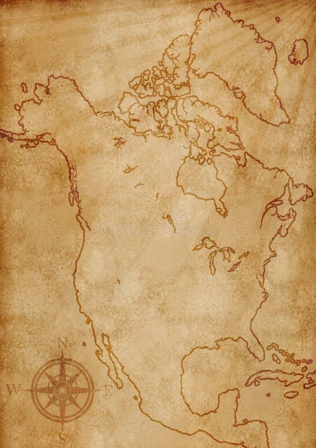 Ilustração do mapa de America do Norte ilustração do vetor