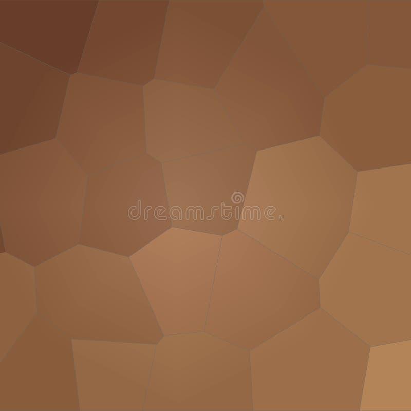 Ilustração do marrom quadrado e do fundo gigante amarelo do hexágono ilustração royalty free