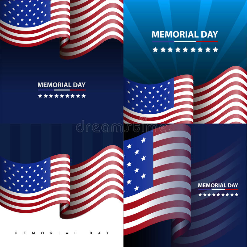 Ilustração do Memorial Day ilustração stock