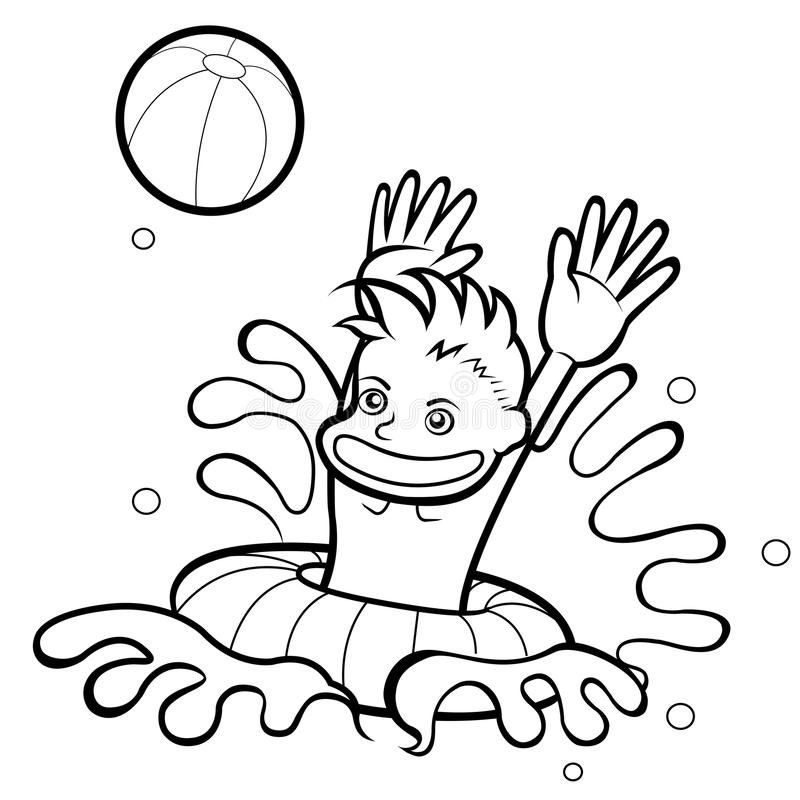 Ilustração do miúdo ilustração stock