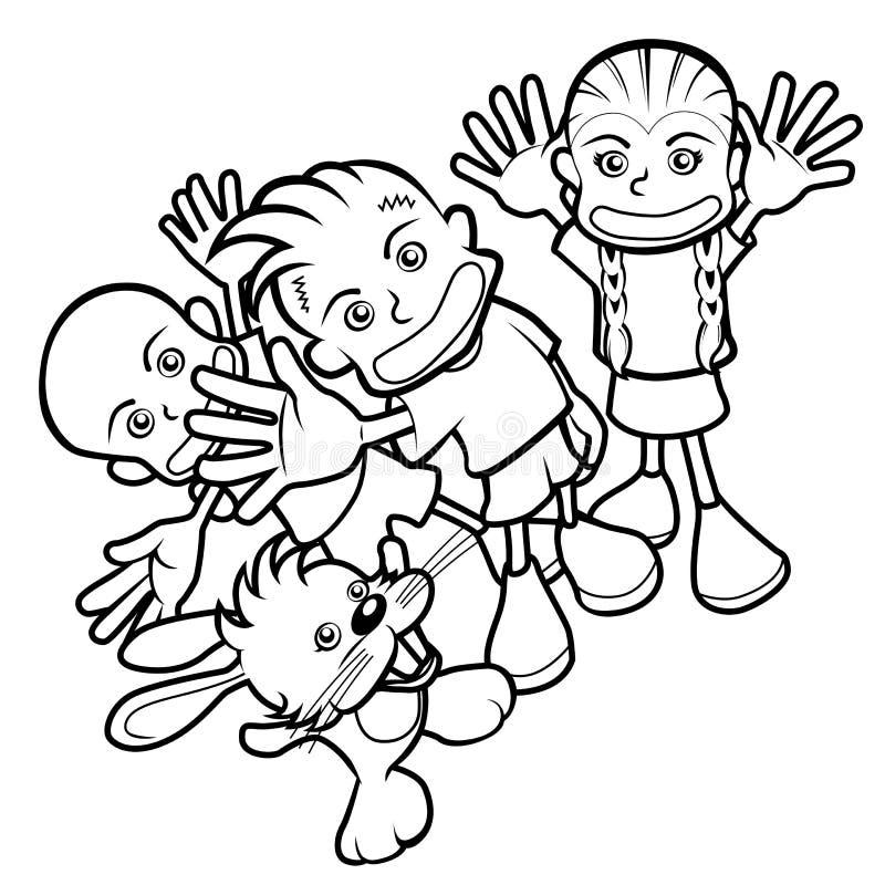 Ilustração do miúdo do vetor ilustração do vetor