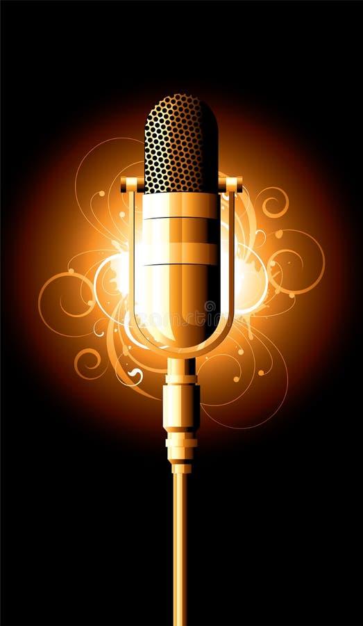 Ilustração do microfone ilustração royalty free