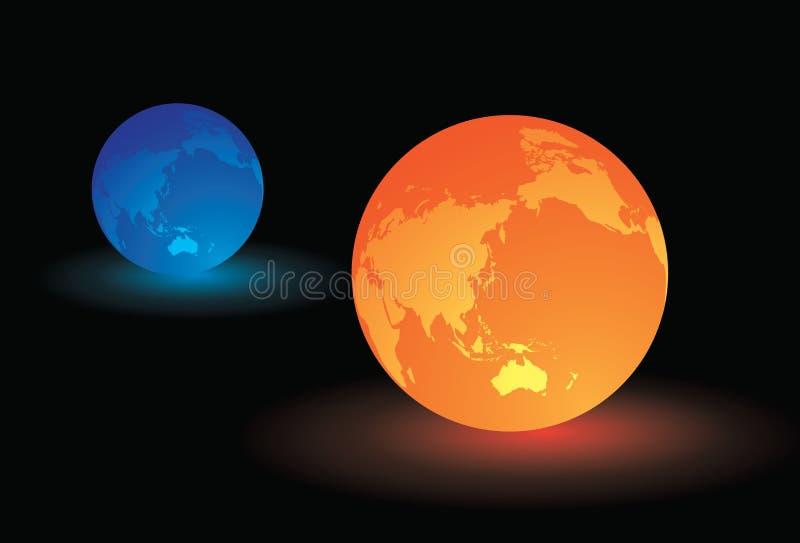 Ilustração do néon do mundo imagens de stock royalty free