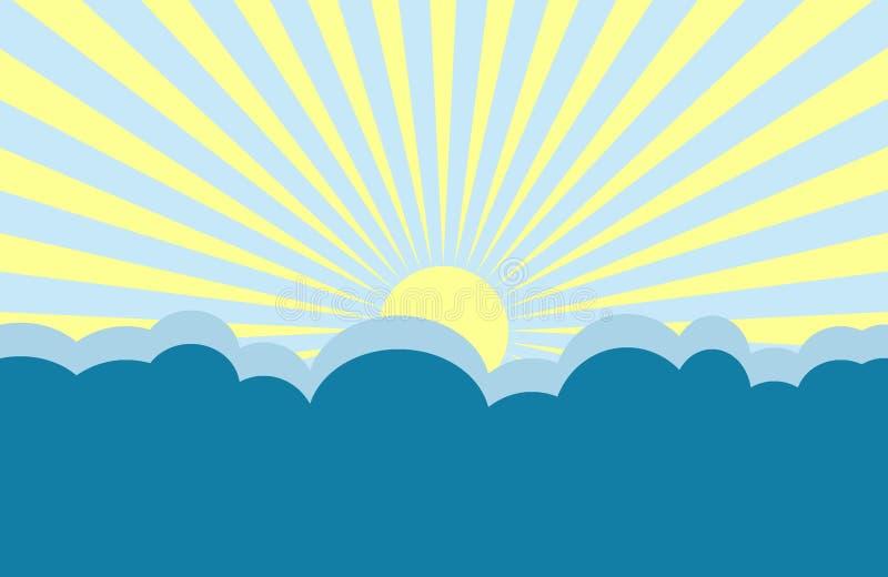 Ilustração do nascer do sol ilustração do vetor