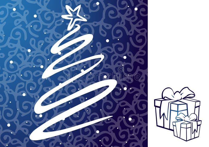Ilustração do Natal - árvore de Natal. ilustração do vetor