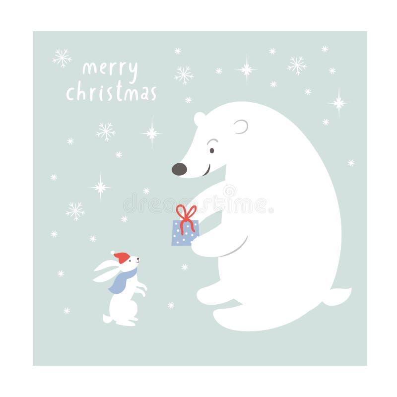 Ilustração do Natal, cartão de Natal ilustração stock