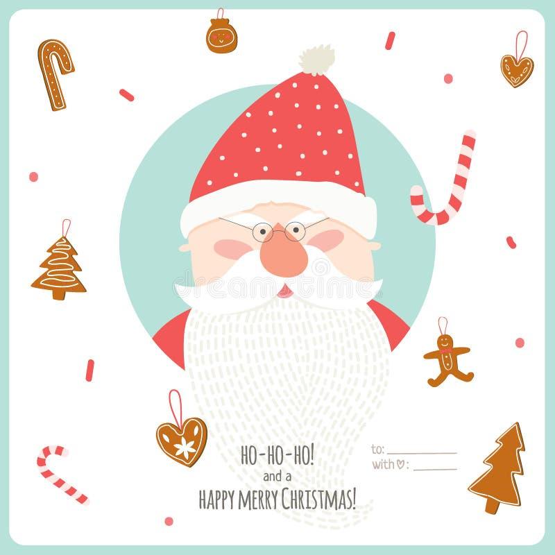 Ilustração do Natal com fundo tipográfico ilustração royalty free