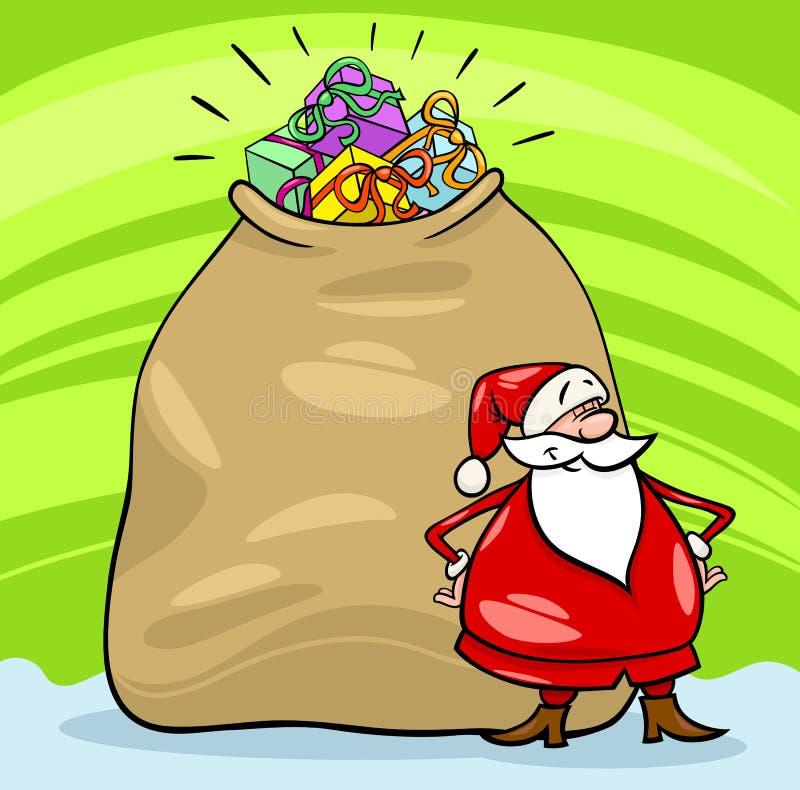 Ilustração do Natal dos desenhos animados de Papai Noel ilustração stock
