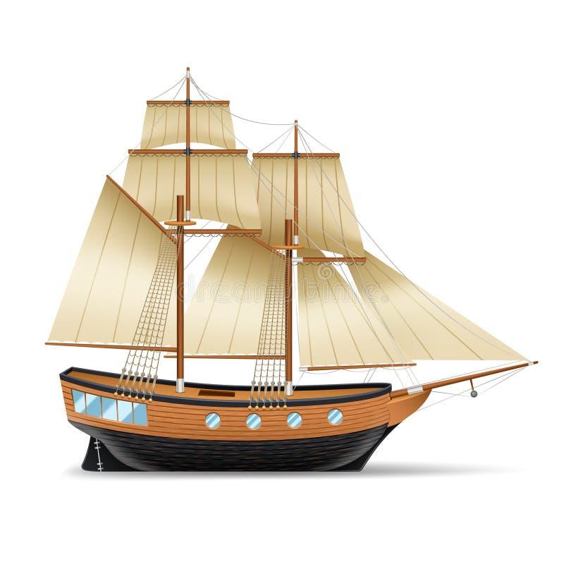 Ilustração do navio de navigação ilustração stock