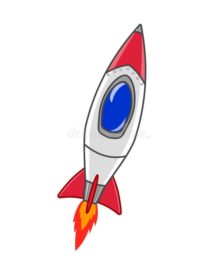 Ilustração do navio de Rocket ilustração stock