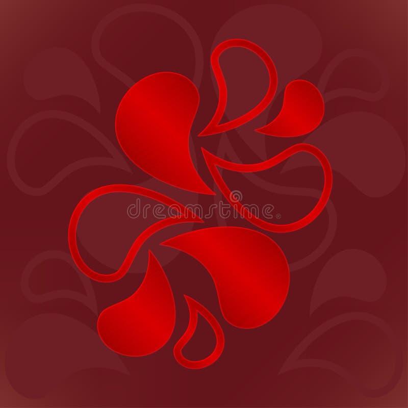 Ilustração do ornamento dos elementos do fogo vermelho fotos de stock royalty free