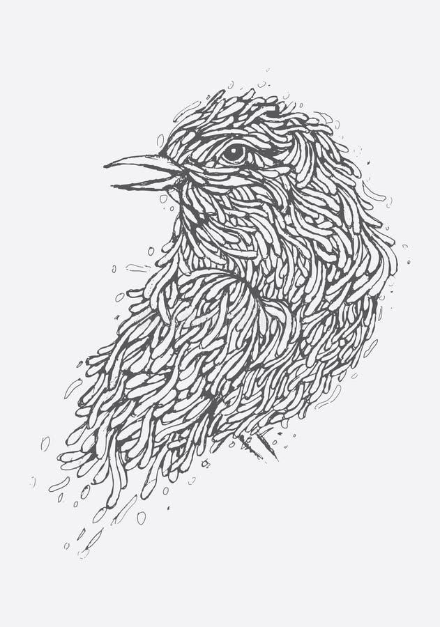 Ilustração do pássaro imagens de stock
