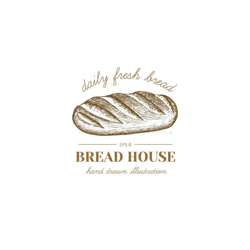 Ilustração do pão ilustração royalty free
