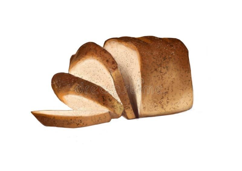 Ilustração do pão cortado ilustração do vetor