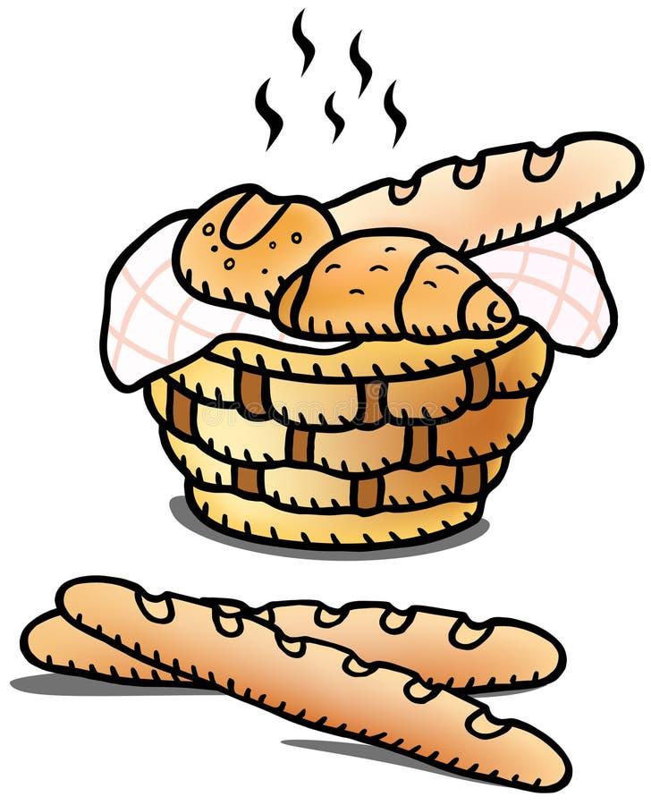 Ilustração do pão fresco ilustração stock