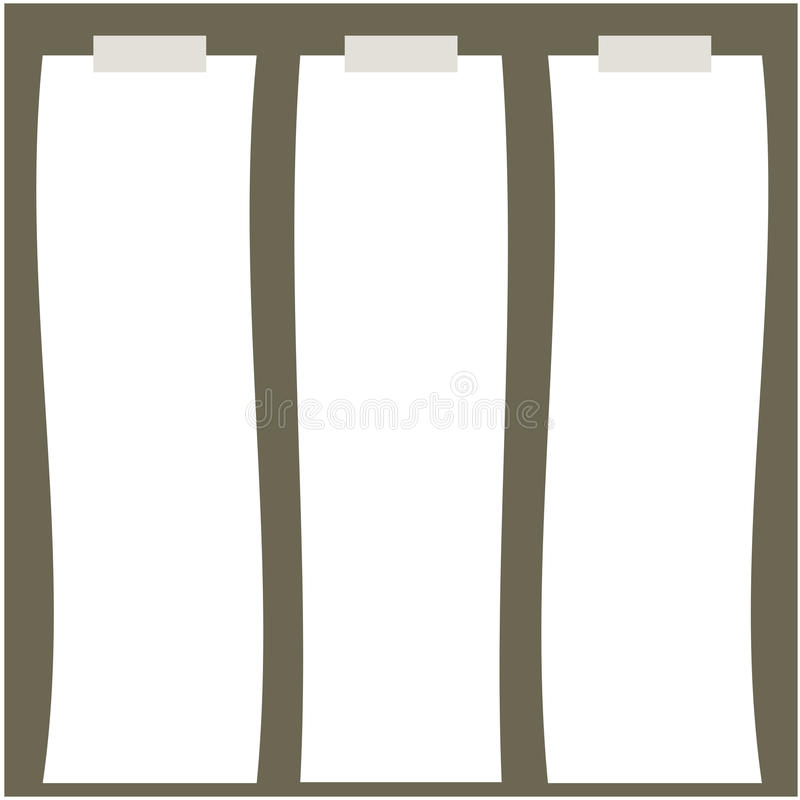 Ilustração do papel longo ilustração stock
