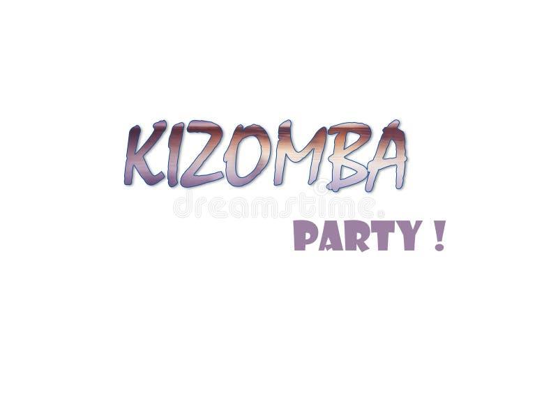 Ilustração do partido de Kizomba imagem de stock