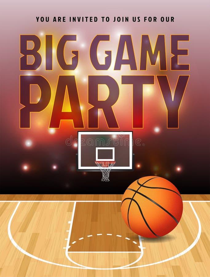 Ilustração do partido do grande jogo do basquetebol ilustração stock
