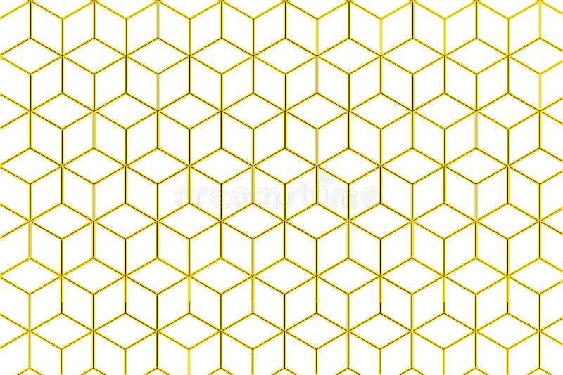 Ilustração do pente do mel no fundo branco ilustração stock